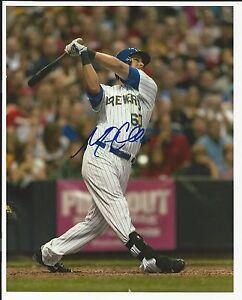 Matt Clark Milwaukee Brewers Signed Auto 8x10 Photo Autograph