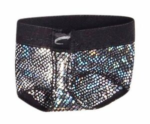 NEW-CAPEZIO-FOOTUNDEEZ-DANCE-MODERN-LYRICAL-Black-Silver-Medium-8-9-M-CUTE
