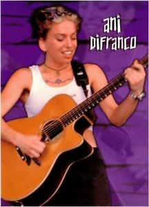 Ani DiFranco Playing Guitar Postcard
