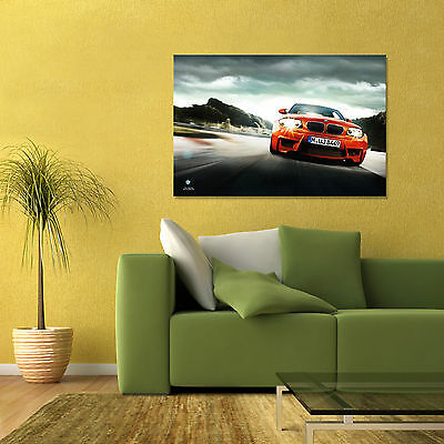 BMW 1 SERIES M COUPE FRONT ORANGE 1M COUPE E87 N54 LARGE POSTER 24x36in