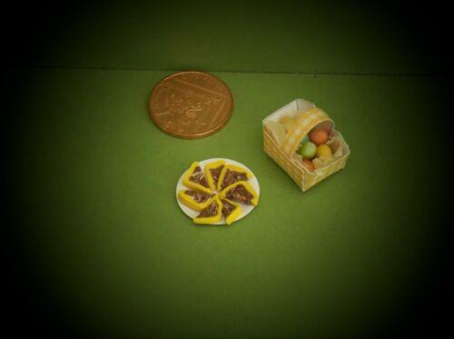 MINIATURE EASTER EGG//CAKES PACKS DOLLS HOUSE FOOD
