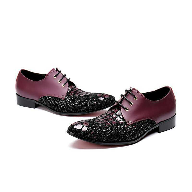Uomo Punk Pelle Business Lace up Dress Formal Loafers Party Rivet Gothic Shoes