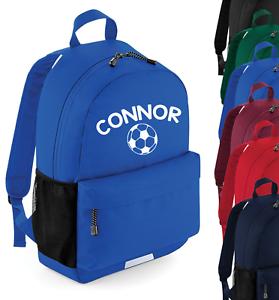 Personalised Name Football Rucksack Backpack Back to School Bag Custom Bag