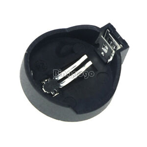 10PCS-CR2025-CR2032-Button-Coin-Cell-Battery-Socket-Holder-Case-Black-Color