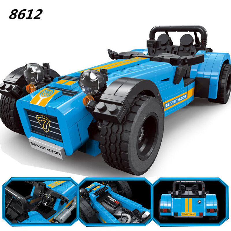 DECOOL 8612 ideas racers Caterham Seven 620R Sports Car And F430 Sports Model