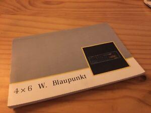 renault-Blaupunkt-4-x-6-Watt-autoradio-notice-utilisation-mode-d-039-emploi
