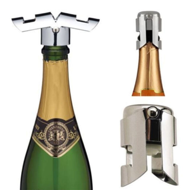 Stainless Steel Vacuum Sealed Sparkling Champagne Wine Bottle Saver Stopper Cap