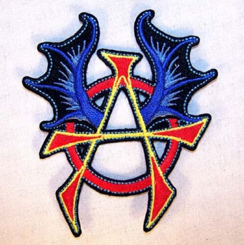 ANARCHY W WINGS EMBRODIERED PATCH P596 new jacket bikers novelty patches new