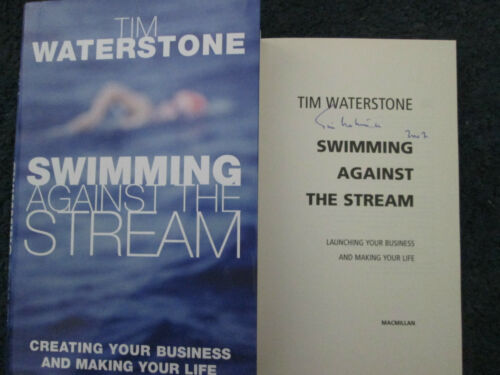 1 of 1 - Tim Waterstone Swimming Against the Stream signed