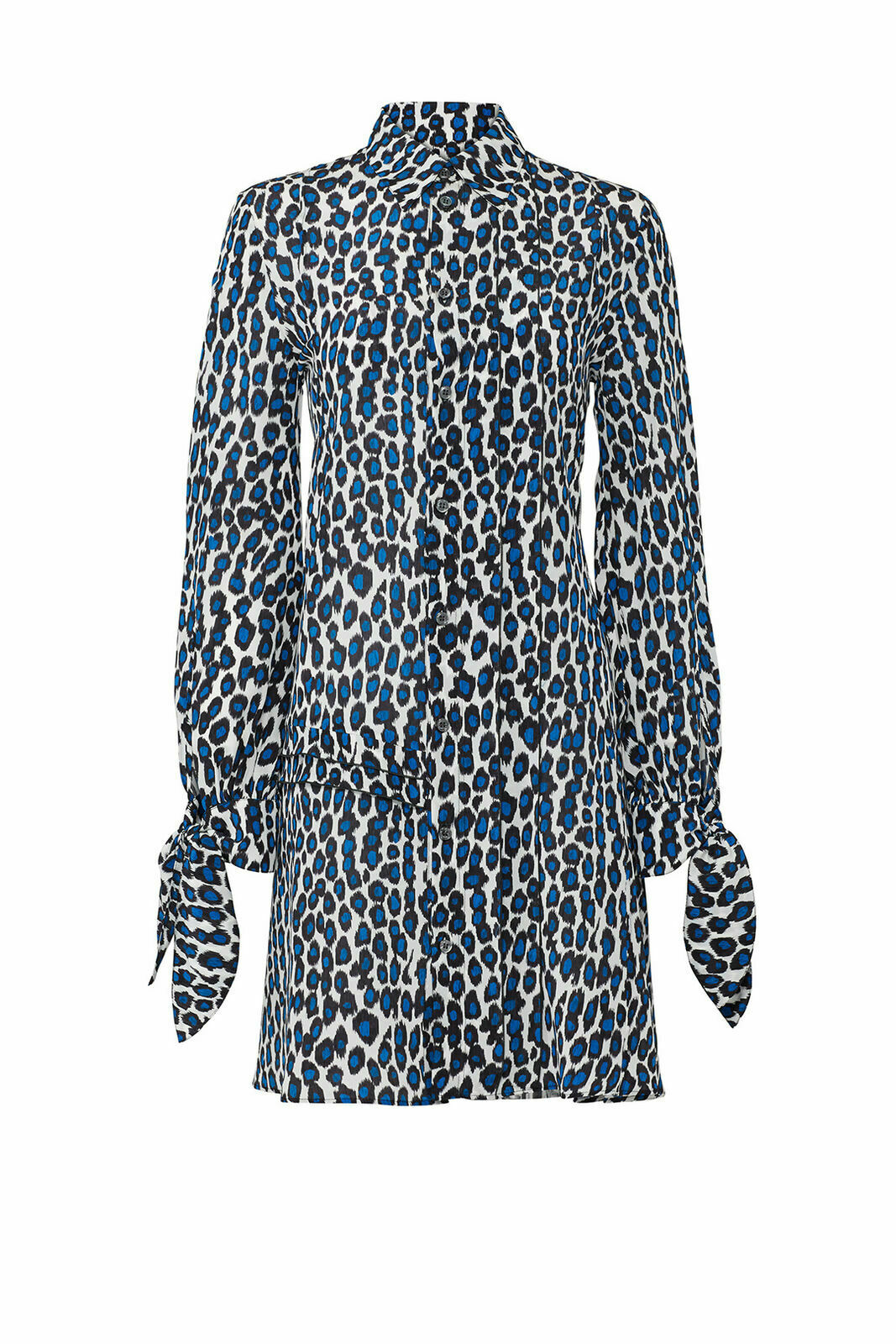 Derek Lam  1,450 New Silk Silk Silk Print Pleated bluee Long Sleeve Shirtdress (2 36, 4 38) a3b02a