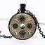 HAECKEL naturel Mandala dôme en verre noir chaîne collier pendentif en gros