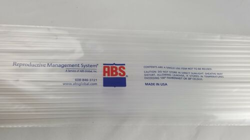 Pack of 50 ARTIFICIAL INSEMINATION RODS NEW AI Dog Cattle Breeding