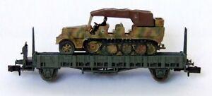 2 Plateaux Avec Tracteur Et Batterie De 88. Ech. N