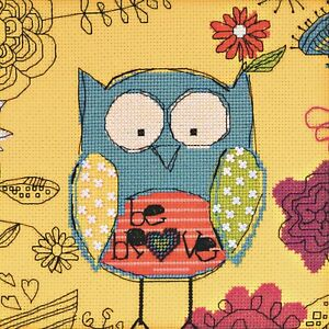 Faith Owl Beaded Counted Cross Stitch Kit Mill Hill Amylee Weeks 2014