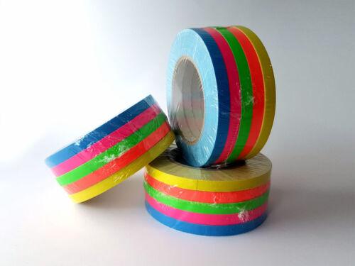 Gewebebänder Gaffa Tape Neonfarben Set 5x Rollen 10mm x 25m