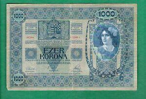 XF P 59 P59 AUSTRIA 1919 1000 KRONEN 1902 - Banknote Note