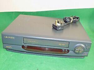Cassette-De-Video-Grabadora-Granada-Vhs-Vcr-Gris-Largo-inteligente-jugar-totalmente-probado