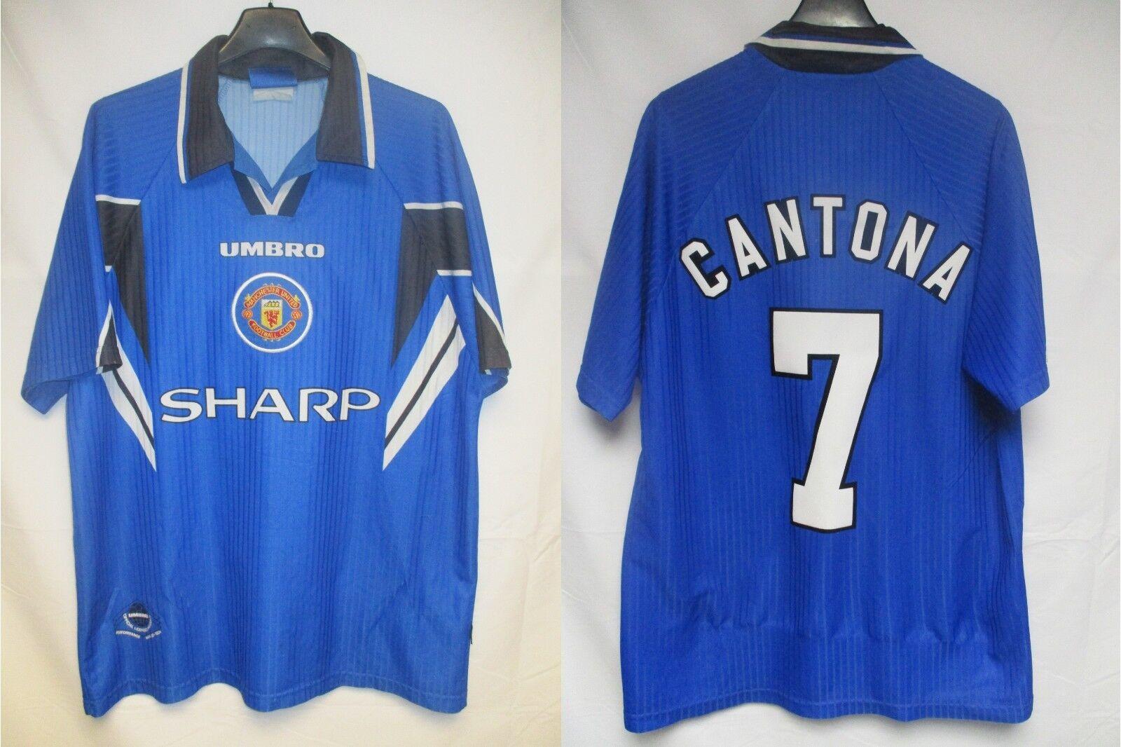 Maillot MANCHESTER UNITED CANTONA n°7 UMBRO shirt jersey  trikot vintage 1997 L  acquisti online