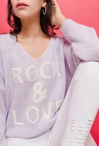 Various Colours Women's Rock /& Love V Neck Jumper