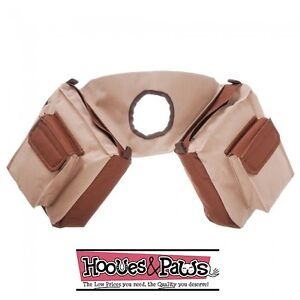 BROWN-and-TAN-Trail-Saddle-INSULATED-Multi-Pocket-Horn-Bag-Pommel-Horse-Tack