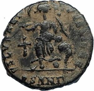 ARCADIUS-Authentic-383AD-Ancient-Roman-Coin-w-VICTORY-ANGEL-amp-CROSS-i67185