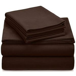 Deluxe-Hotel-300-Thread-Count-100-Cotton-Sateen-TWIN-Sheet-Set-Coffee