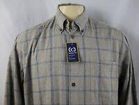 Cambridge Classics Plaids Men's Long Sleeve Casual Shirt Size Xxl
