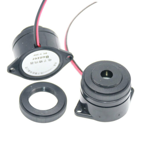 12V 24V Elektronische Piezo Aktive Kontinuierliche Summer Sounder Kabel