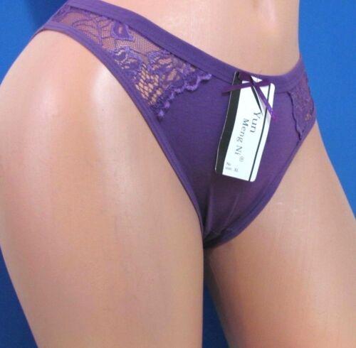 B10 Low Cut Cotton Lacy white  salmon blue purple black Bikini Panties S M L