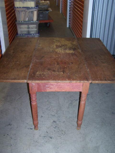 Antique Drop Leaf Farmhouse Table***48