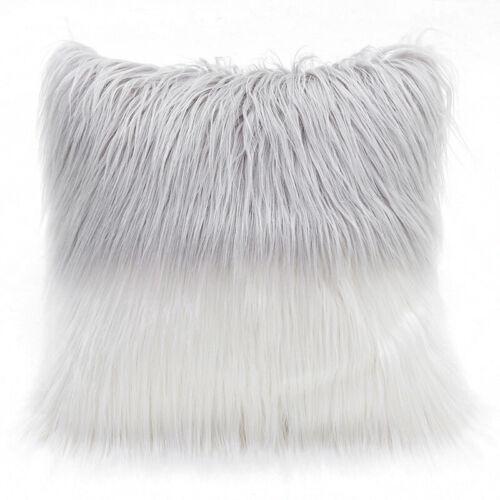 Flauschig Plüsch Fellimitat Kissen Deckel Kissenhülle Solid Weich Sofa Wohndeko