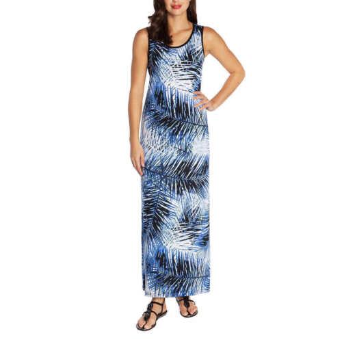 Mario Serrani Women/'s Sleeveless Maxi Dress  Blue Print XS S M L XL XXL NWT