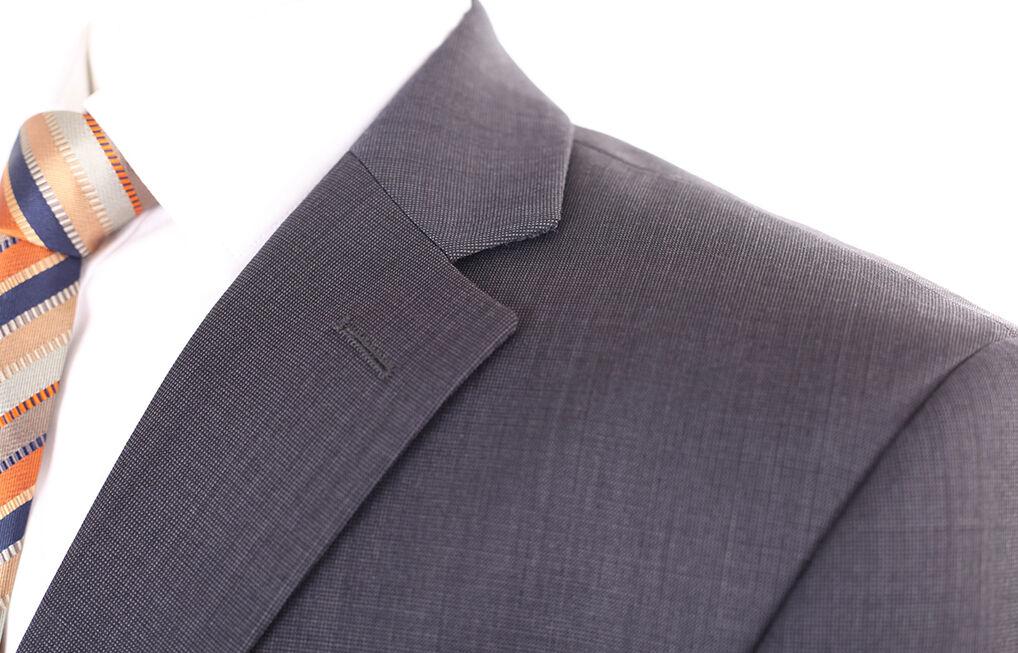 AUSTIN Reed Lusso Blu navy misto misto misto lana Uomo blazer giacca 42R a secco f973ec