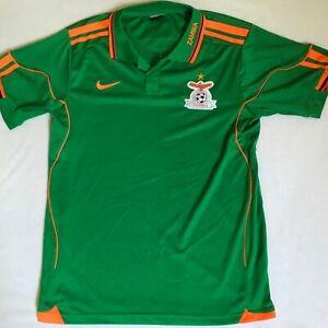 Nike Zambia National Football Team Green Orange S/S Kids Soccer ...