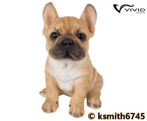 Vivid Arts French Golden Bulldog Resin Ornament