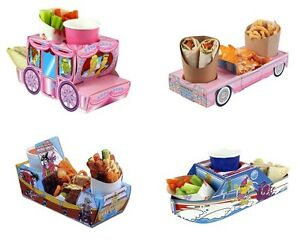 Food-Tray-Holder-Boxes-Cars-Boat-Carriage-Jungle-Camper-Van-Kids-Party
