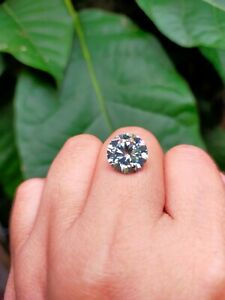 4.73 ct VVS1/11.23mm SKY BLUE COLOR ROUND LOOSE MOISSANITE DIAMOND for Ring BIG
