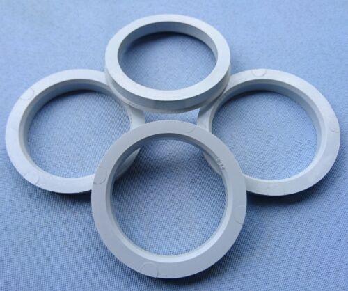 4 Piezas Anillas de centrado 70,4 mm 56,6 mm gris negro para llantas de aluminio 1215