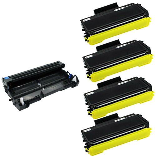 4x TN580 Toner 1x DR520 Drum For Brother MFC-8860DN 8870DW 8480DN HL-5250DNT