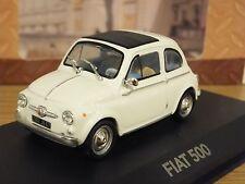 ATLAS EDITIONS FIAT 500 WHITE CAR MODEL 2147214 1:43