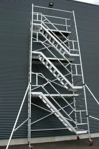 KiezGerüst Treppengerüst Rollgerüst Fahrgerüst Rollrüstung Gerüstturm Ah.10,3m