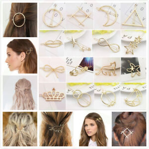 Bridal-Gold-Hollow-Geometric-Metal-Hair-Clips-Clamps-Hairpin-Barrette-Slide-Clip