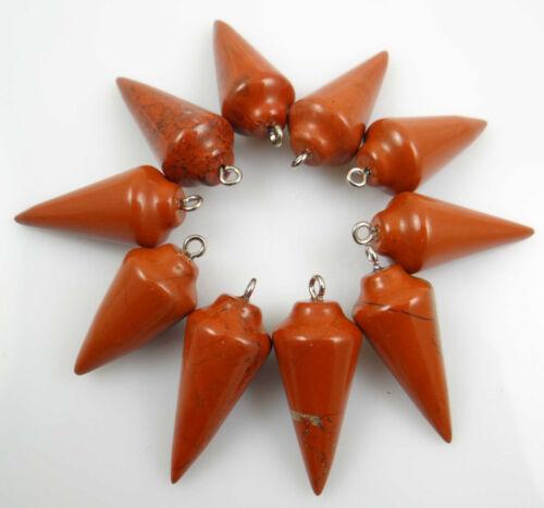10pcs Beautiful  Mixed Stone Pendulum agate Pendant GEM//GEMS Loose Beads PN/_3