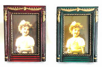Antique Style Mini Picture Frame 2 Pack Photo Choice Of Color Free Shipping