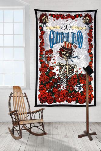 3D GRATEFUL DEAD-50th ANNIVERSARY-BERTHA-FARE THEE WELL-60X90 TAPESTRY-Free Glss