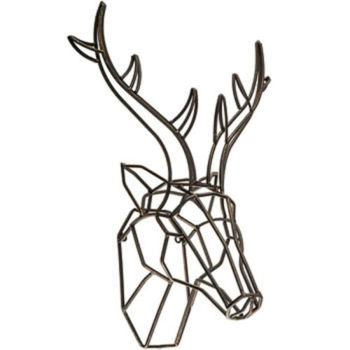 Large Bronze Deer Head Metal Wall Decor Home or Cottage Decor