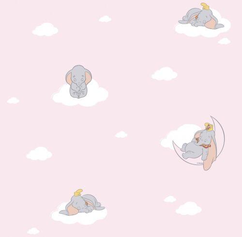 3,50£//1qm Kids Wallpaper Disney Dumbo Boy Girl rose U3020-2 Fantasy Deco