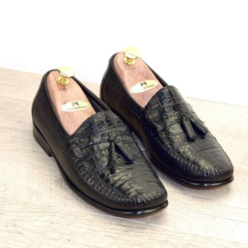 $499 Florsheim Imperial CAIMAN Alligator 7.5 D All