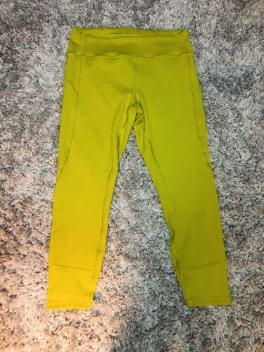 "Lululemon Womens Yoga Pants Size 12 Lime Green 25"""