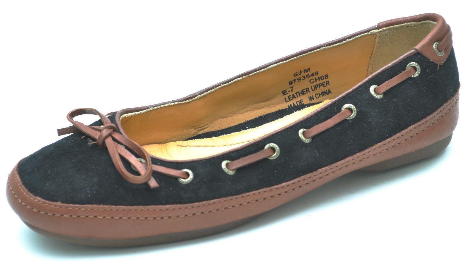 Sperry Top-sider Softie Skimmer Skimmer Skimmer Negro Marrón Pisos barco de zapatos para mujer 6.5 - Nuevo  preferente